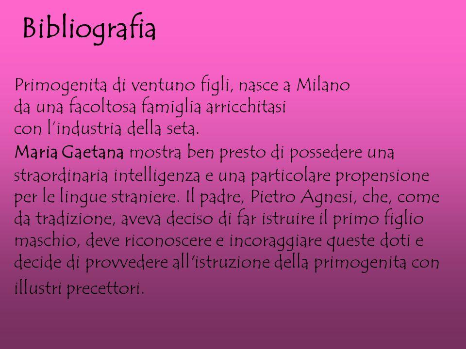 Bibliografia Primogenita di ventuno figli, nasce a Milano