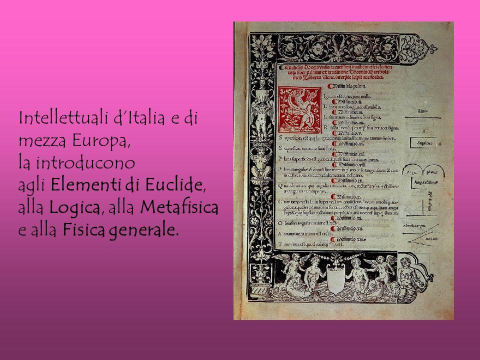 Intellettuali d'Italia e di mezza Europa,