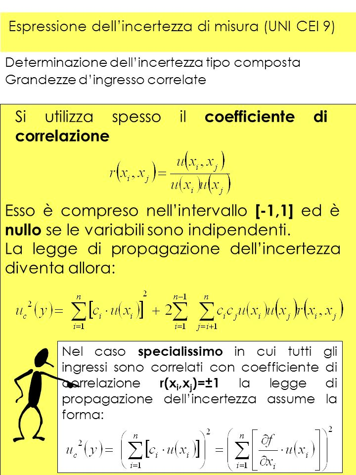 Si utilizza spesso il coefficiente di correlazione