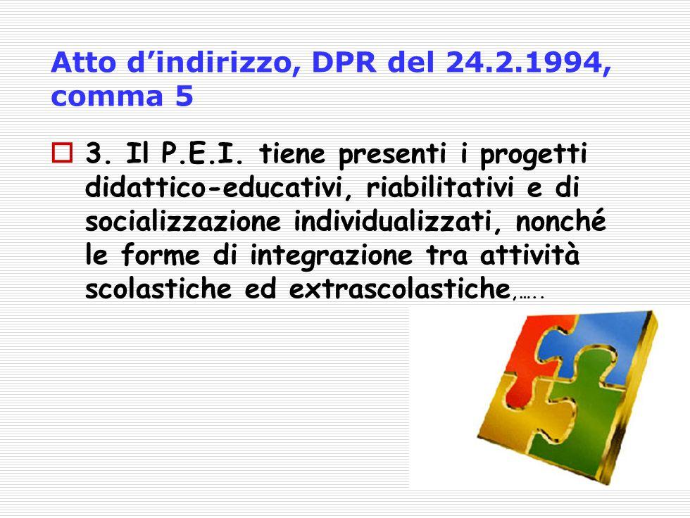 Atto d'indirizzo, DPR del 24.2.1994, comma 5