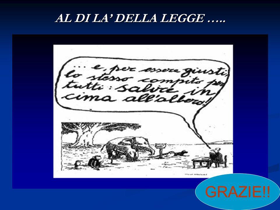 AL DI LA' DELLA LEGGE ….. GRAZIE!!