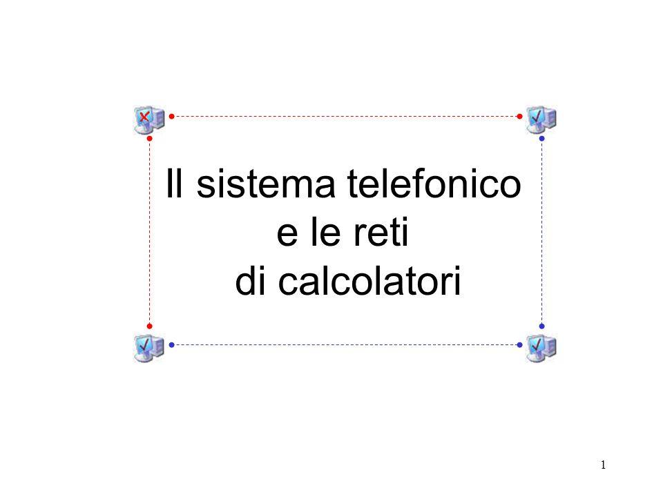 Il sistema telefonico e le reti di calcolatori