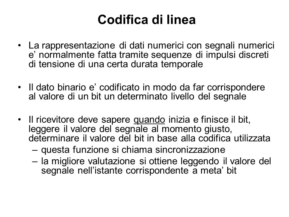 Codifica di linea