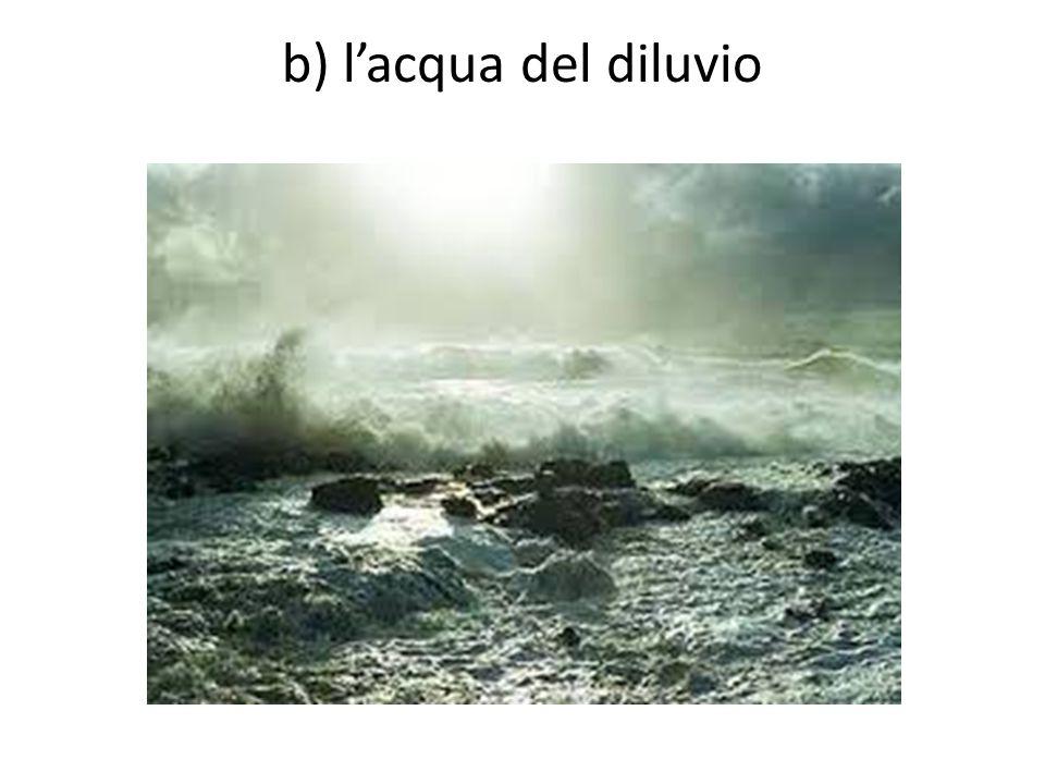 b) l'acqua del diluvio