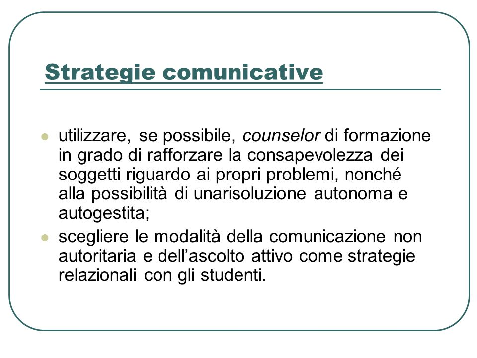 Strategie comunicative