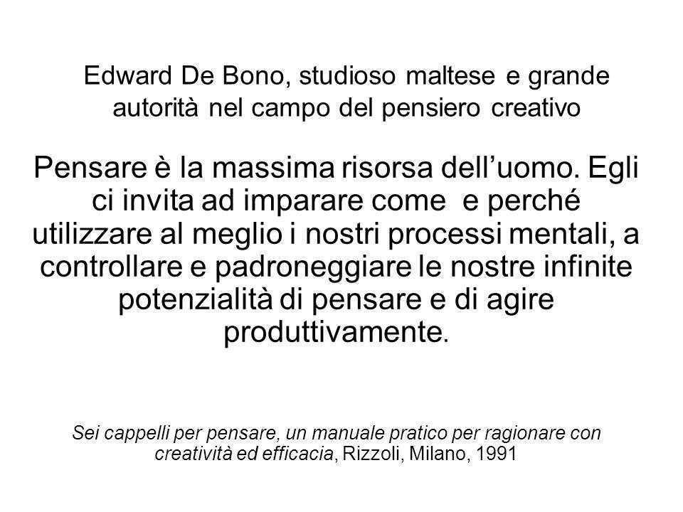 Edward De Bono, studioso maltese e grande autorità nel campo del pensiero creativo