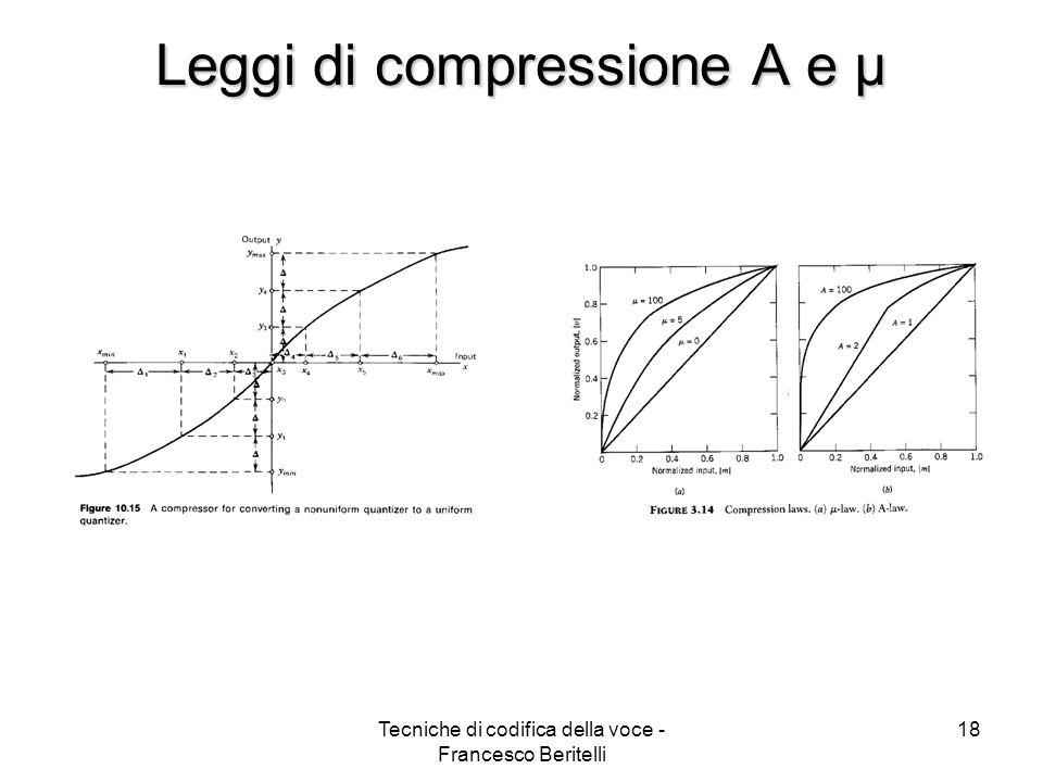 Leggi di compressione A e µ