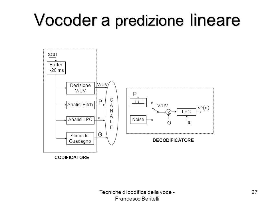 Vocoder a predizione lineare