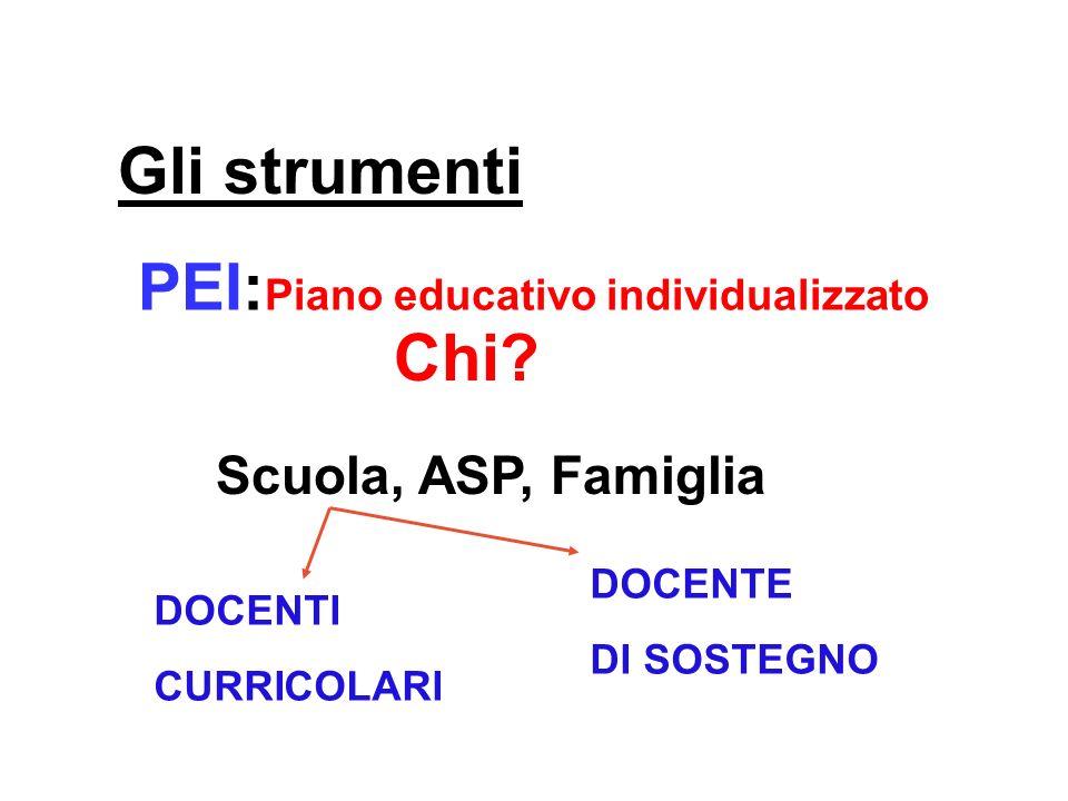 PEI:Piano educativo individualizzato