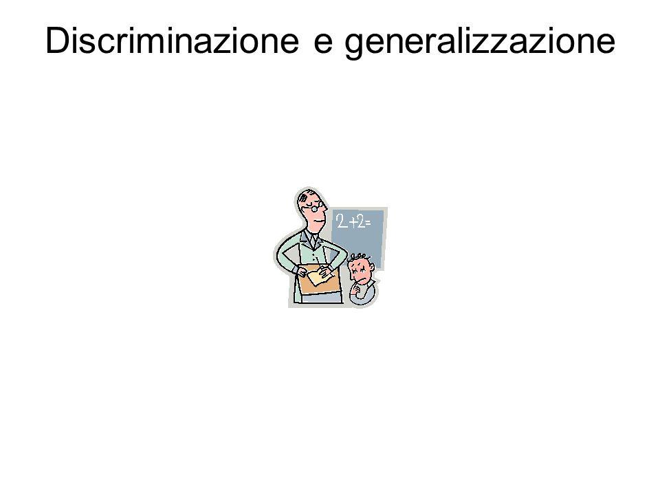 Discriminazione e generalizzazione