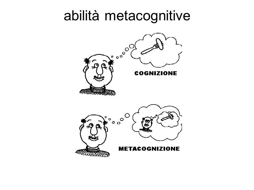 abilità metacognitive