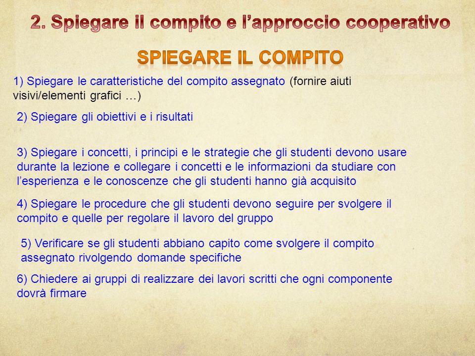 2. Spiegare il compito e l'approccio cooperativo