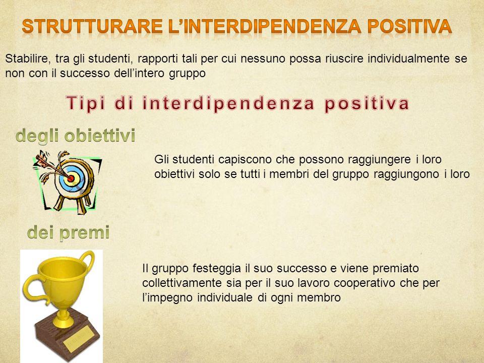 Strutturare l'interdipendenza positiva