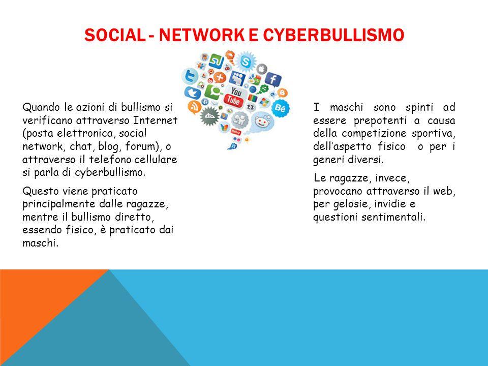 SOCIAL - NETWORK E CYBERBULLISMO