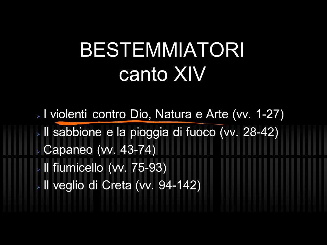 BESTEMMIATORI canto XIV
