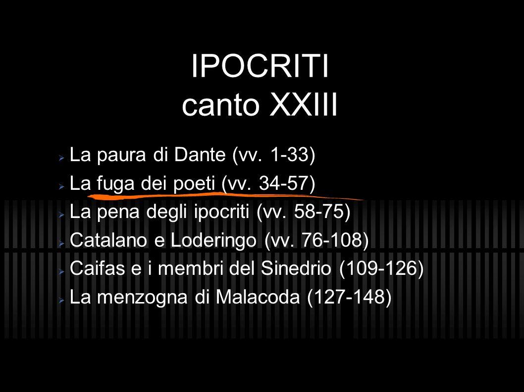 IPOCRITI canto XXIII La paura di Dante (vv. 1-33)