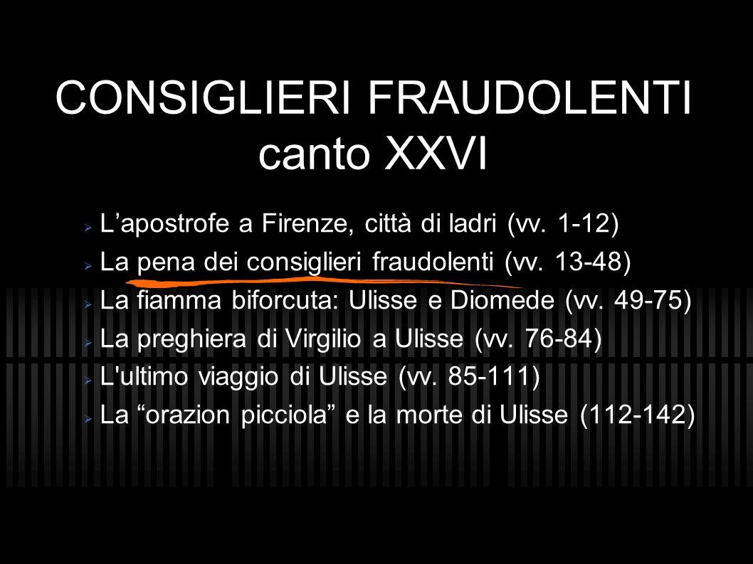 CONSIGLIERI FRAUDOLENTI canto XXVI