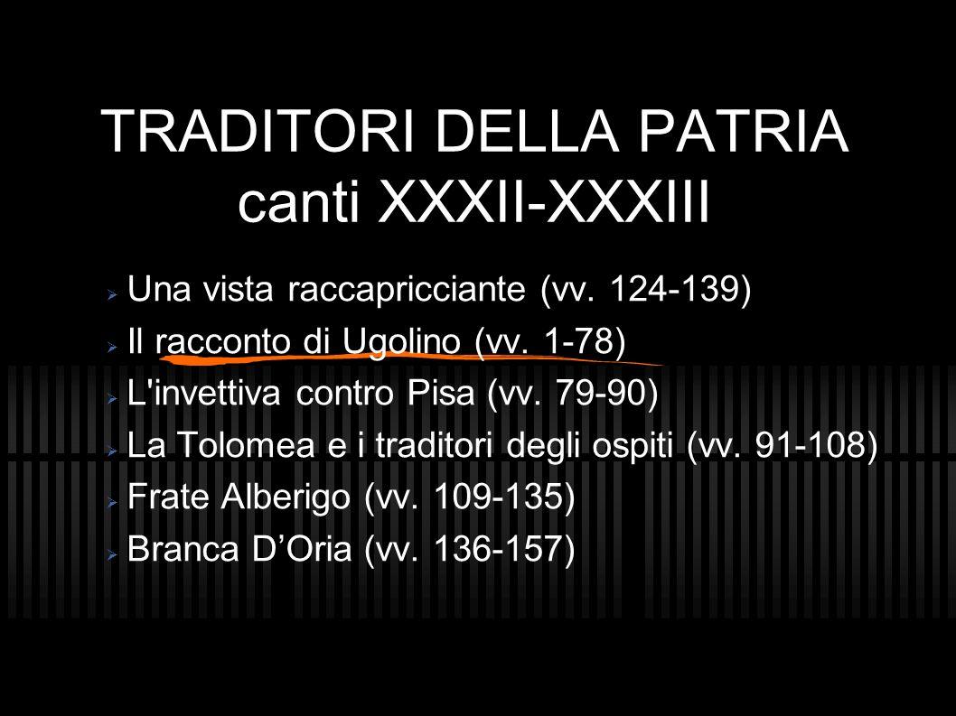 TRADITORI DELLA PATRIA canti XXXII-XXXIII