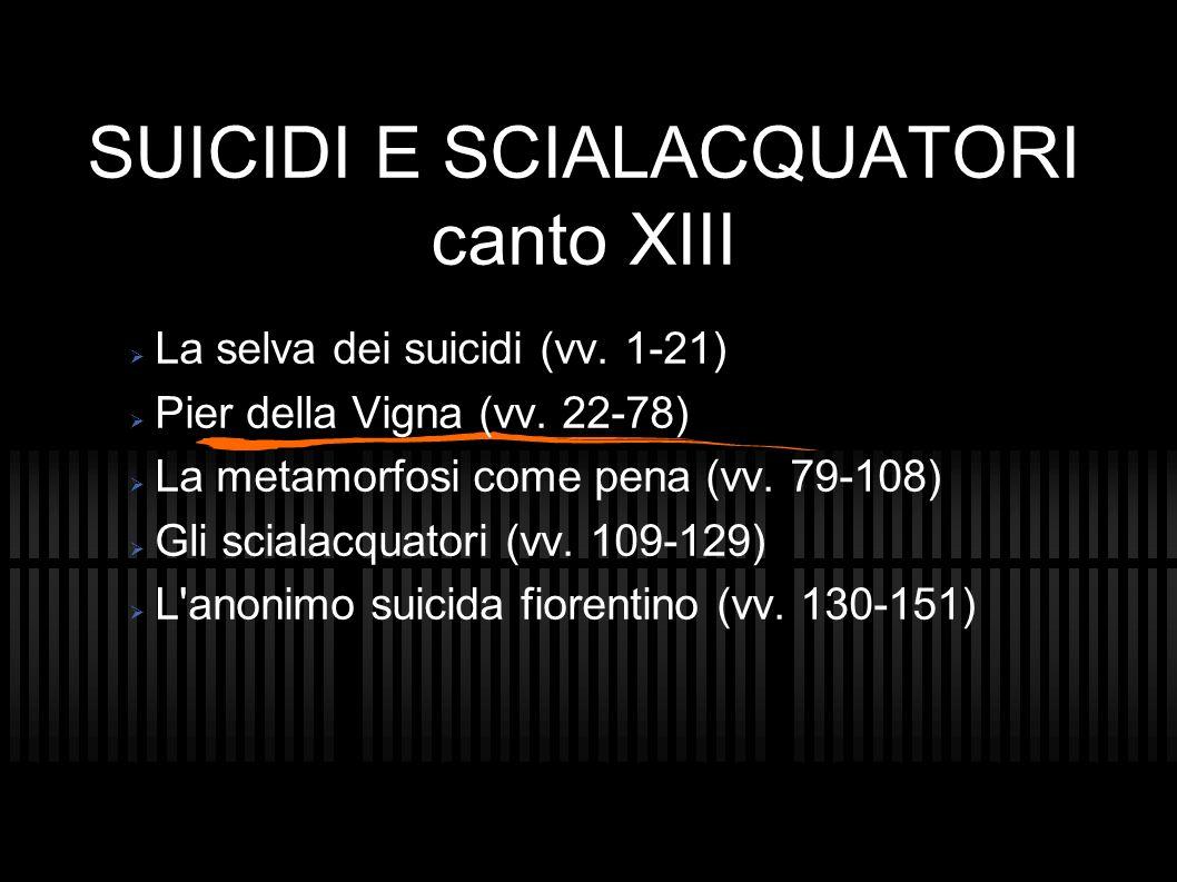 SUICIDI E SCIALACQUATORI canto XIII