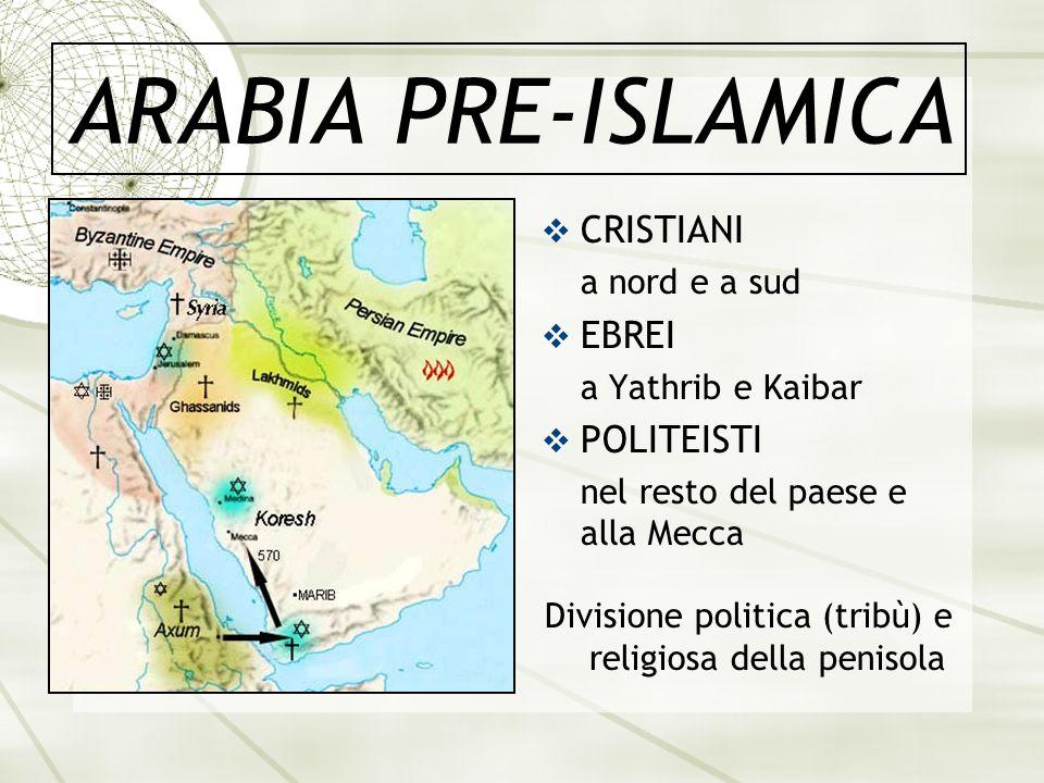 Divisione politica (tribù) e religiosa della penisola