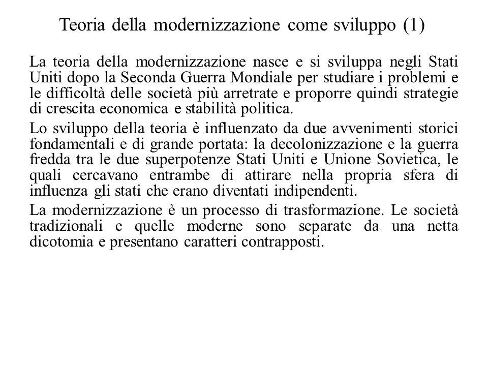 Teoria della modernizzazione come sviluppo (1)