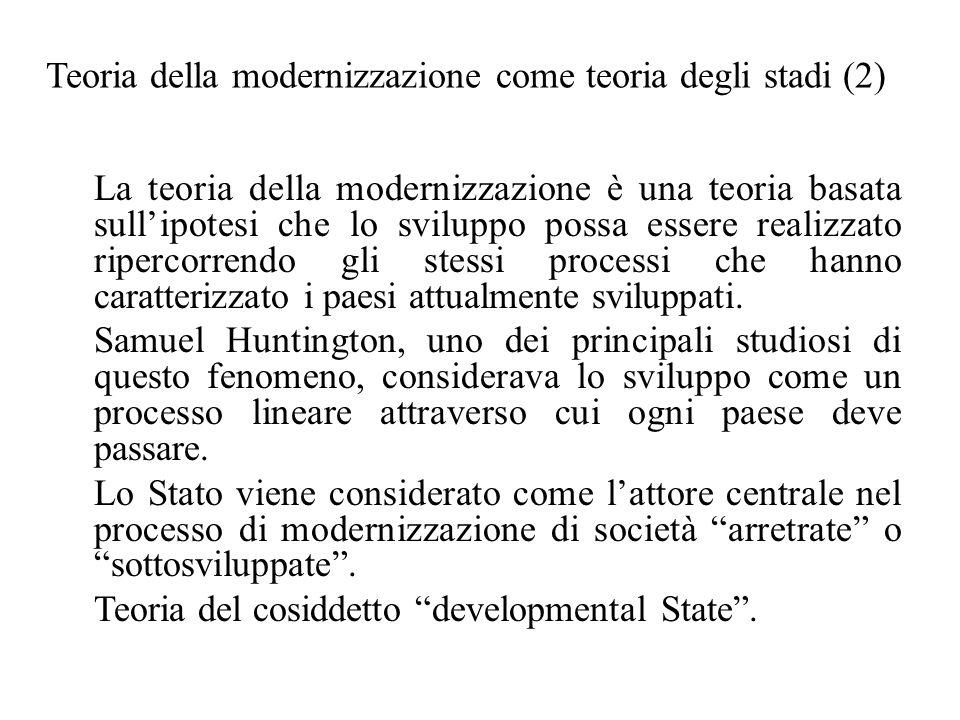 Teoria della modernizzazione come teoria degli stadi (2)