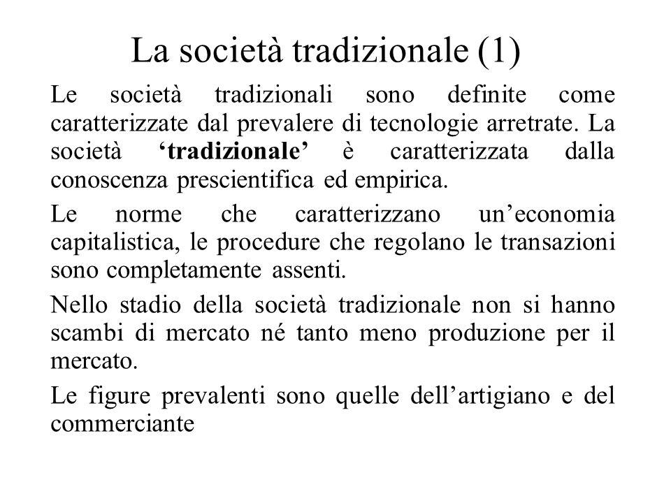La società tradizionale (1)