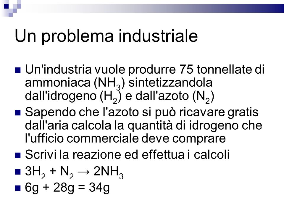 Un problema industriale