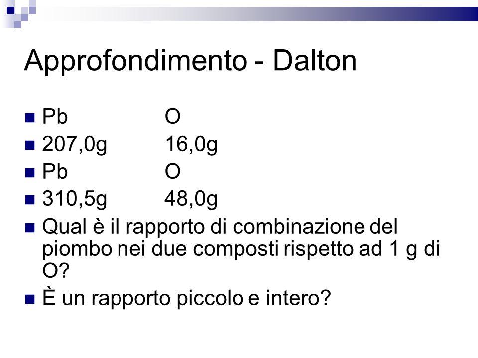 Approfondimento - Dalton