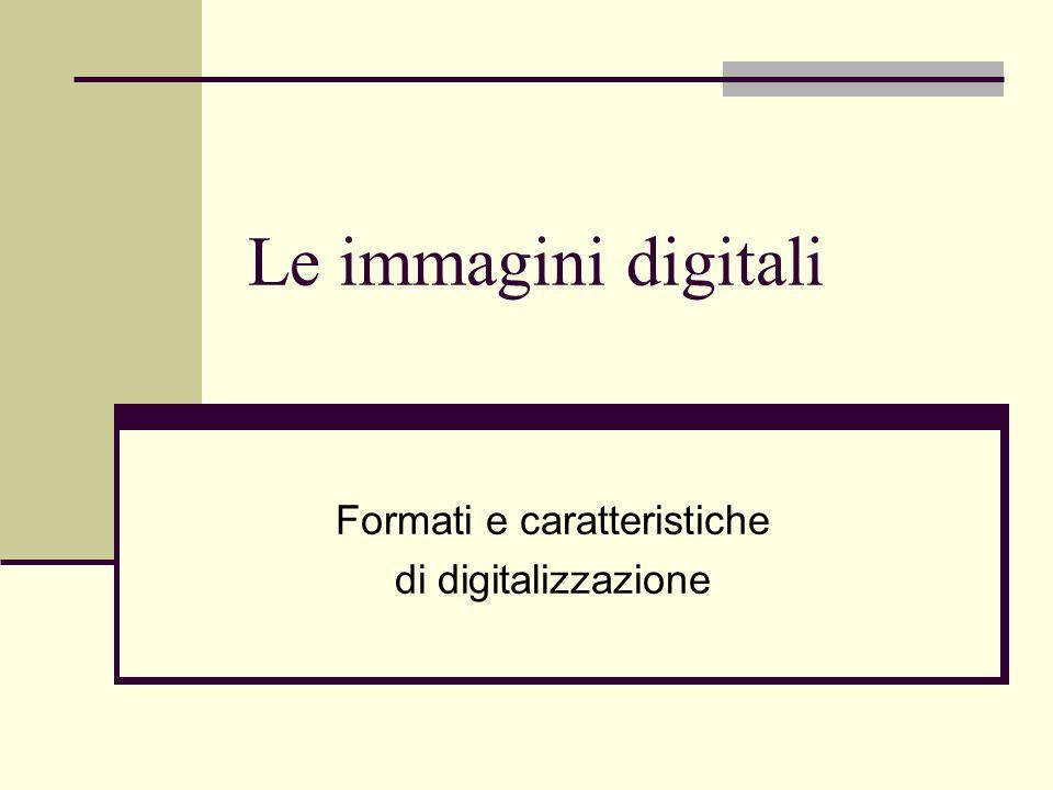 Formati e caratteristiche di digitalizzazione
