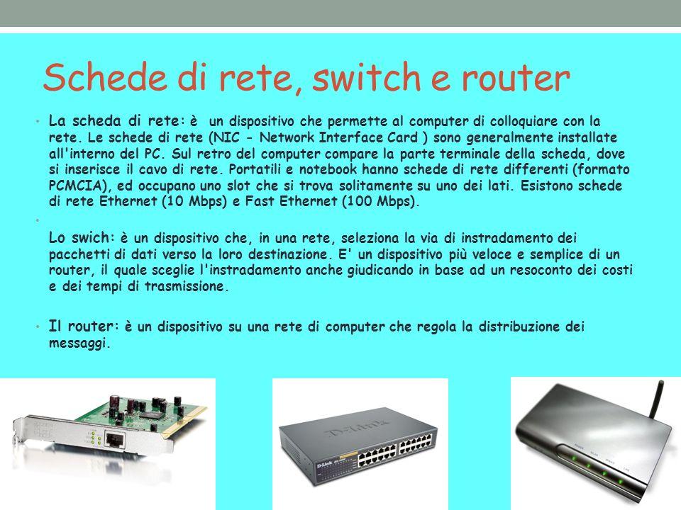 Schede di rete, switch e router