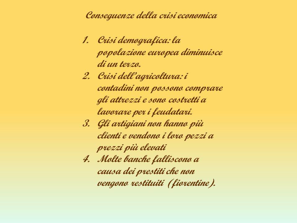 Conseguenze della crisi economica