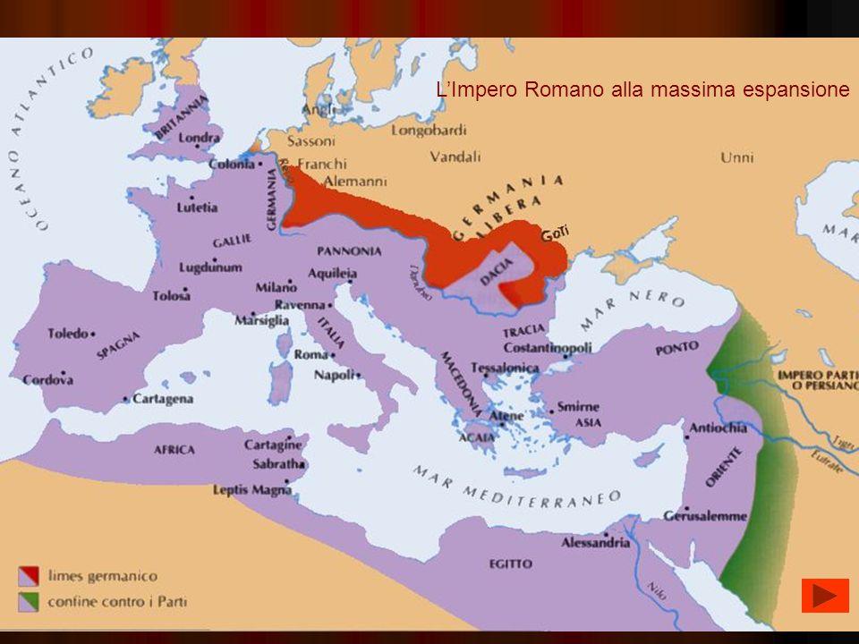 L'Impero Romano alla massima espansione