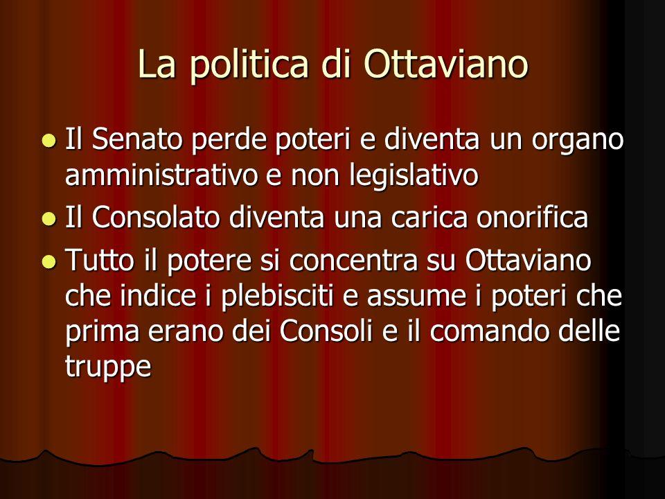La politica di Ottaviano