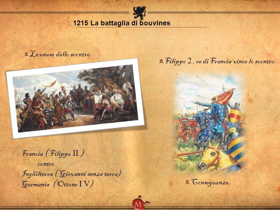 Filippo 2 , re di Francia vince lo scontro.