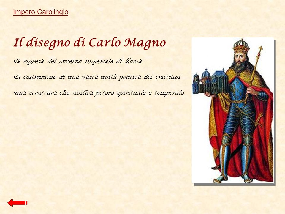 Il disegno di Carlo Magno