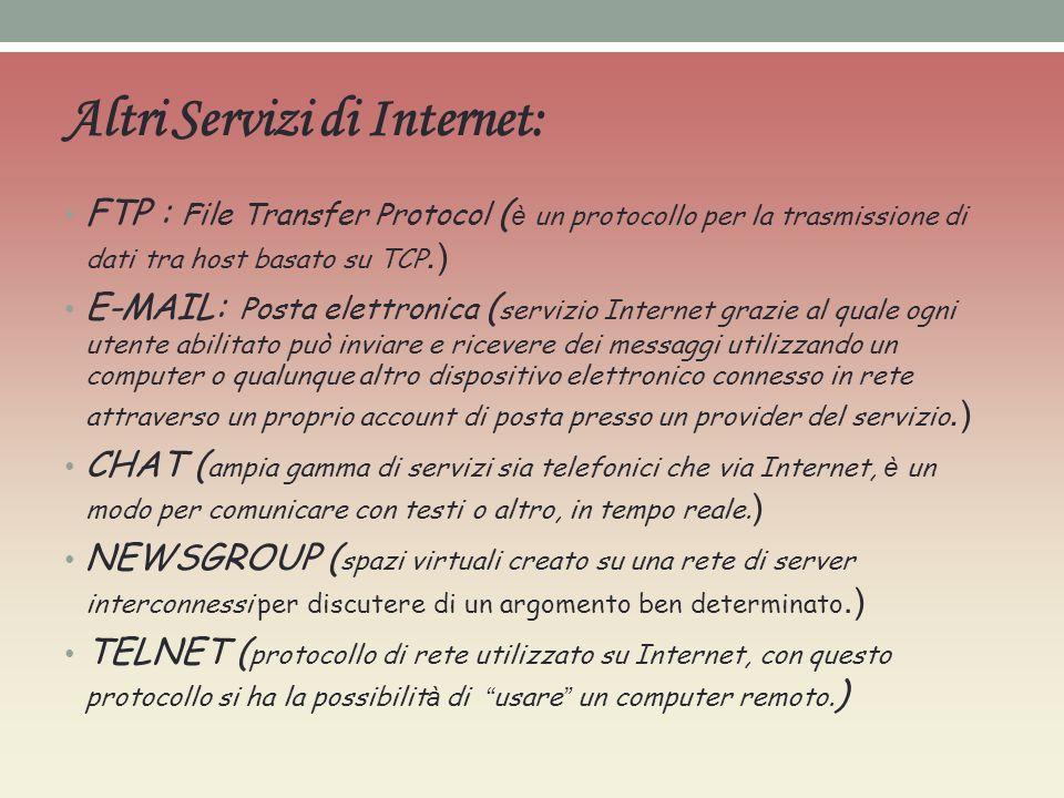 Altri Servizi di Internet: