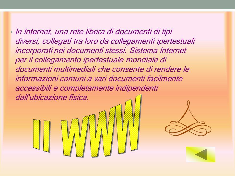 In Internet, una rete libera di documenti di tipi diversi, collegati tra loro da collegamenti ipertestuali incorporati nei documenti stessi. Sistema Internet per il collegamento ipertestuale mondiale di documenti multimediali che consente di rendere le informazioni comuni a vari documenti facilmente accessibili e completamente indipendenti dall ubicazione fisica.