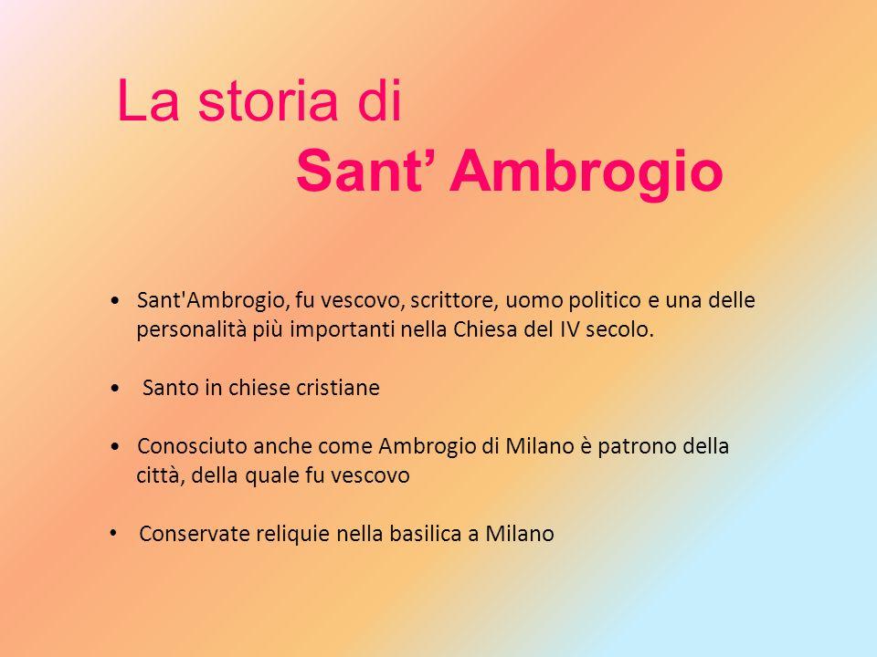 La storia di Sant' Ambrogio