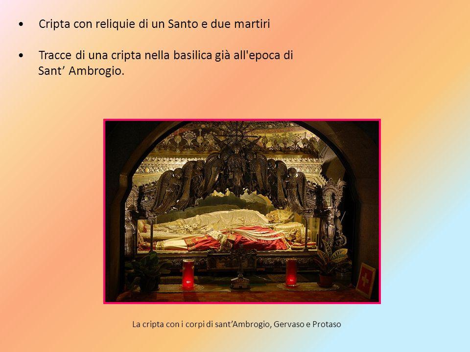 Cripta con reliquie di un Santo e due martiri