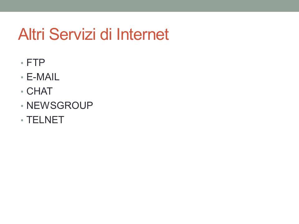 Altri Servizi di Internet