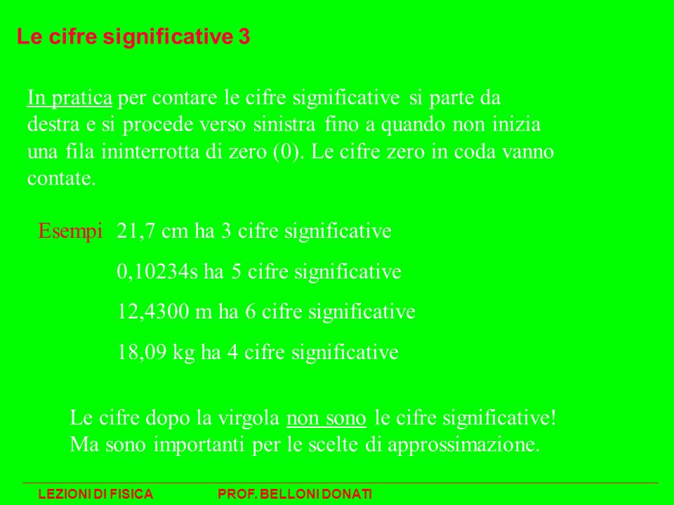 Le cifre significative 3