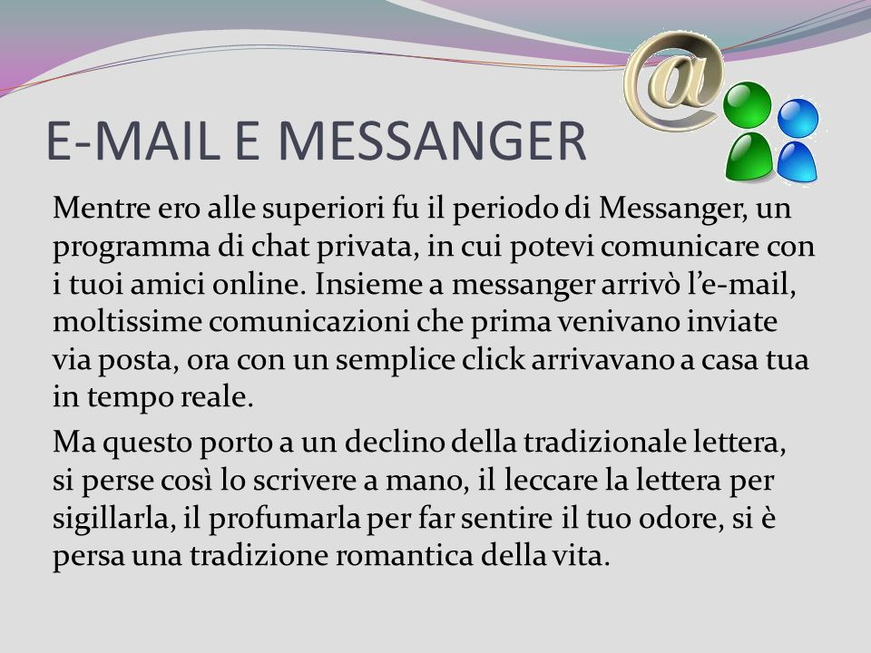 E-MAIL E MESSANGER