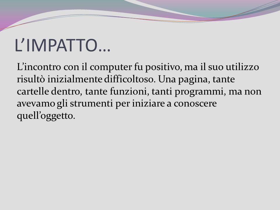 L'IMPATTO…