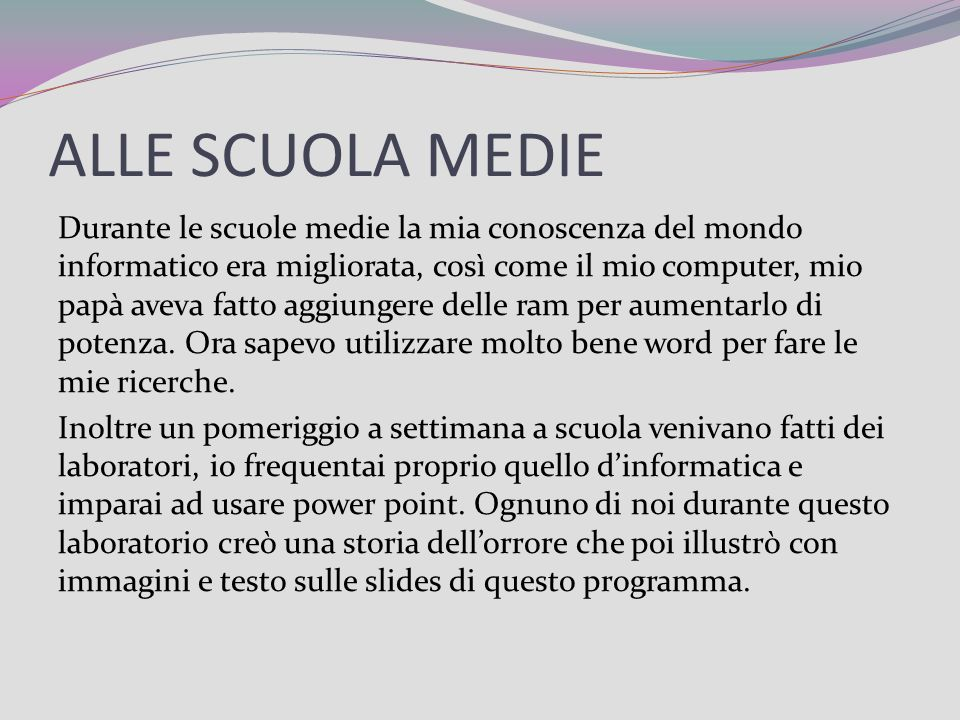 ALLE SCUOLA MEDIE