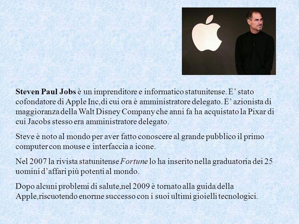 Steven Paul Jobs è un imprenditore e informatico statunitense