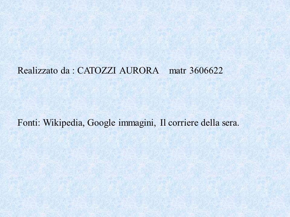 Realizzato da : CATOZZI AURORA matr 3606622