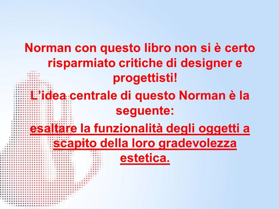 Norman con questo libro non si è certo risparmiato critiche di designer e progettisti.