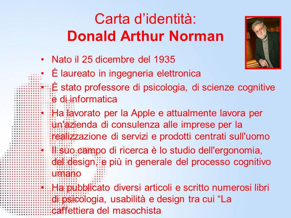 Carta d'identità: Donald Arthur Norman