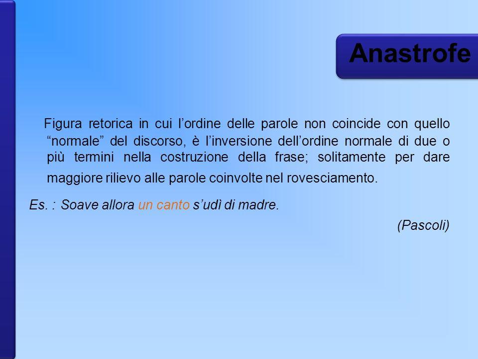 Anastrofe